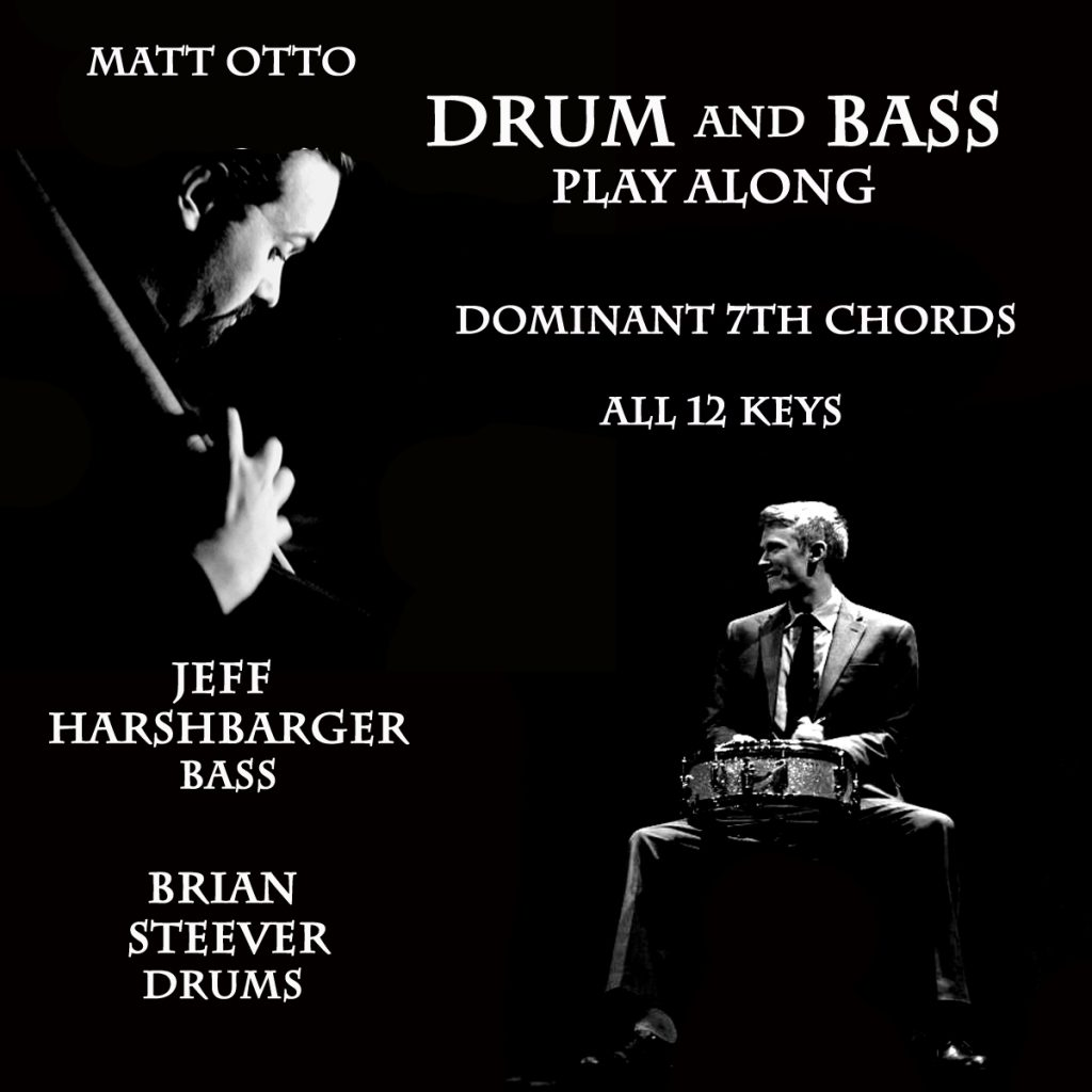 ~ Drum and Bass Play Along Dominant 7th Chords